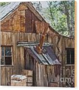 Desert Outback Farm Building Wood Print