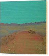 Desert Overlook Wood Print