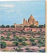 Desert Palace Wood Print