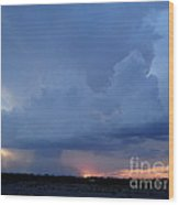 Desert Rainstorm 2 Wood Print by Kerri Mortenson