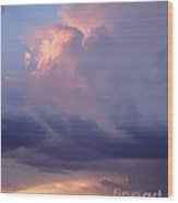 Desert Rainstorm 6 Wood Print