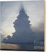 Desert Rainstorm Wood Print