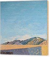 Desert Range Wood Print