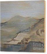 Desert Reservoir Wood Print
