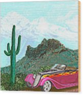 Desert Roadster 34 Ford Wood Print