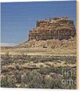Desert Rock Formation Wood Print