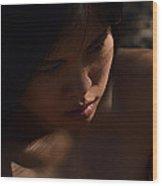 Desert Shadows Wood Print