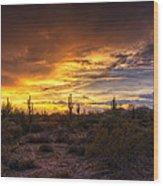 Desert Skies  Wood Print