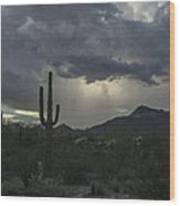 Desert Storm Beauty Wood Print