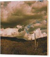 Desert Storm Wood Print