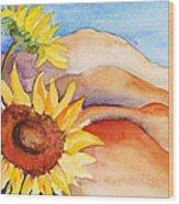 Desert Sunflower Wood Print