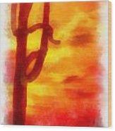 Desert Sunset Photo Art 01 Wood Print