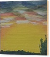 Desert Sunset Wood Print by Steve Jorde