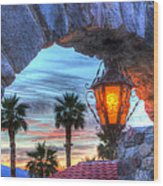 Desert Sunset View Wood Print