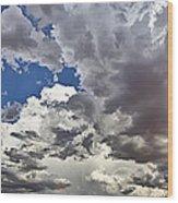 Desert Thunderstorm 1 Wood Print