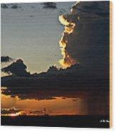 Desert Thunderstorm - Marfa Texas Wood Print