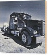 Desert Trucking  Wood Print