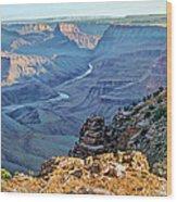 Desert View-morning Wood Print by Paul Krapf