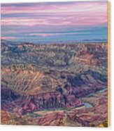 Desert View Sunset Wood Print