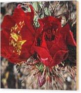 Desert Wildflowers Wood Print