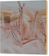 Desert Winds Dancing Wood Print