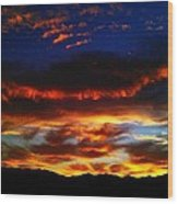 Desert Winter Sunset  Wood Print