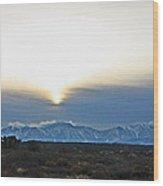 Desert Winter View Wood Print