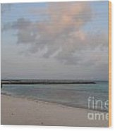 Deserted Aruba Beach Wood Print