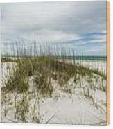 Deserted Beach Wood Print