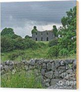 Deserted Building In Ireland Wood Print