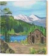 Deserted Cabin Wood Print