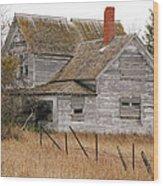 Deserted House Wood Print