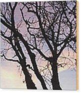 Deserted Tree Wood Print