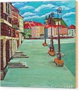 Deserted Warsaw Wood Print