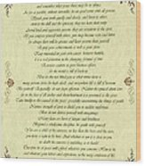 Desiderata Gold Bond Scrolled Wood Print