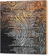 Desiderata On Gold Wood Print