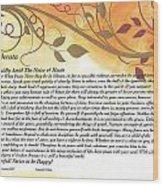Desiderata On Golden Leaves Wood Print