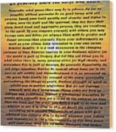 Desiderata Pismo Beach Golden Sunset Wood Print