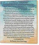 Desiderata Poem On Brighton Beach Watercolor Wood Print