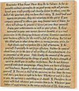 Desiderata Poster On Antique Embossed Wood Paper Wood Print