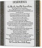Desiderata Squared Swirls Wood Print