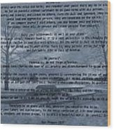 Desiderata Winter Scene Wood Print