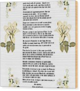 Desiderata With Art Wood Print by Anne Norskog