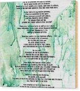 Desiderata - Words Of Wisdom Wood Print