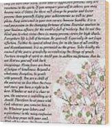 Desiderta Poem On Cherry Blossom Wood Print