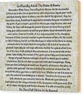 Desiderta Poem On Tuscan Marble Wood Print