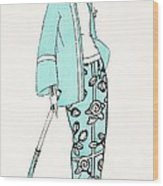 Design For A Day Dress C 1919 Wood Print