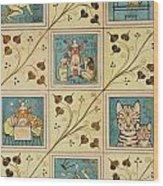 Design For Nursery Wallpaper Wood Print