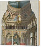 Design For The Entrance Hall Wood Print