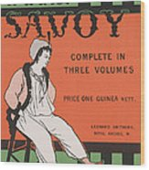 Design For The Front Cover Of 'the Savoy Complete In Three Volumes' Wood Print
